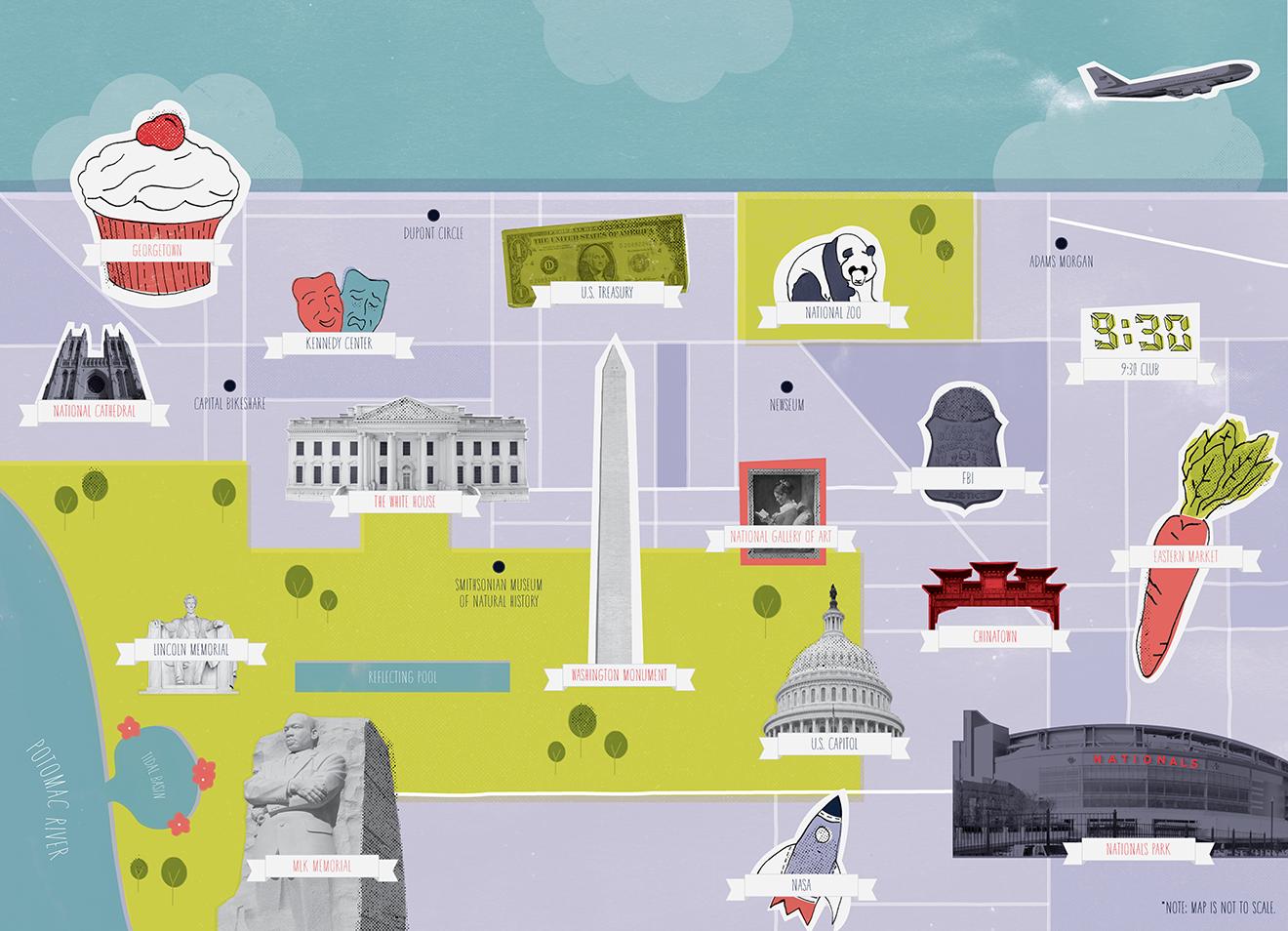Admissions Map | Kelsey Marotta Design